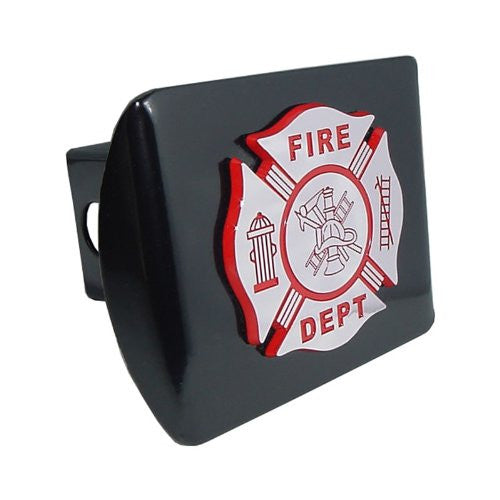Firefighter (Chrome & Red) Black Hitch Cover