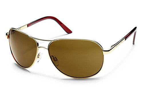 Aviator Gold with Brown Polarized Polycarbonate Lens