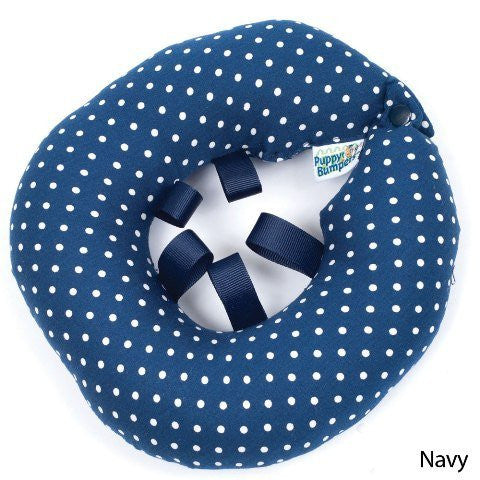 Navy Dot Puppy Bumper® Up to 10""