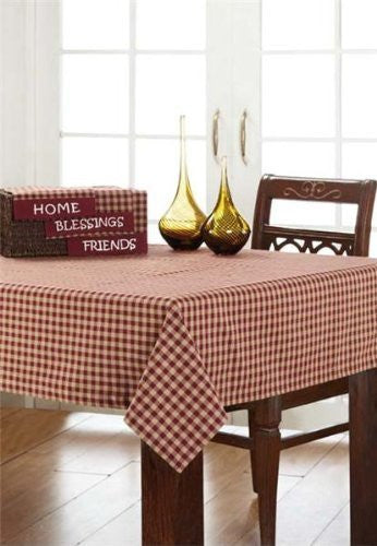 Burgundy Check Table Cloth 60x60""