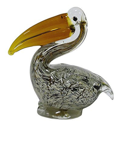 Glass Sitting Pelican