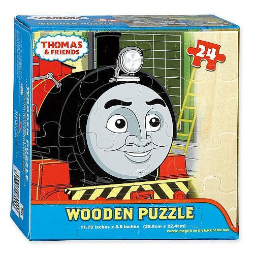LICENSED MODULAR WOOD PUZZLES (BOX WITH WOOD FACECARD) - Thomas Basic Wood Puzzle 24pc