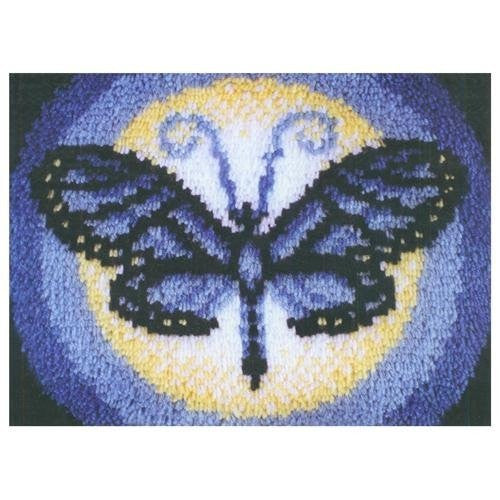 "Wonderart Latch Hook Kit 15""X20"", Butterfly Moon"