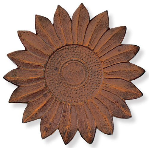 Cast Iron Sunflower Stepping Stone