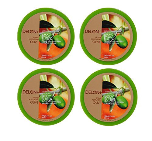 DELON+ HYPOALLERGENIC BODY BUTTERS 200ml JARS, Olive