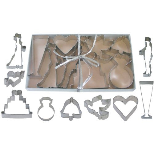 Wedding Tinplated Cookie Cutter 9pc Set