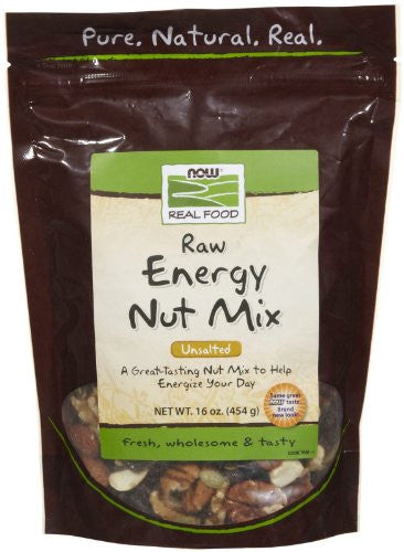 NOW Foods Unsalted Raw Energy Nut Mix - 1 lb