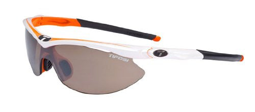 Tifosi Women's Slip Shield Sunglasses (Race Orange/AC Red/Medium Orange / Brown / AC Red / Clear)