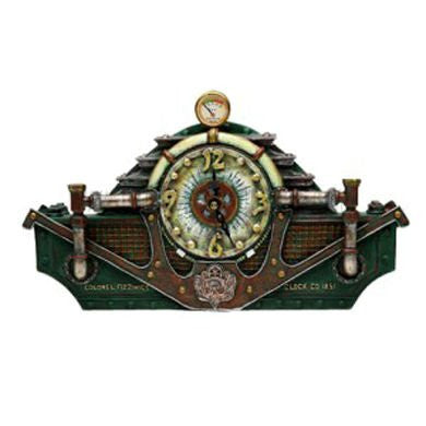 Steampunk Table Clock L: 10 1/4""