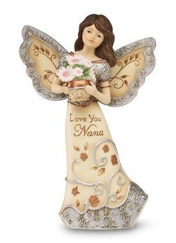 "5.5"" Angel Holding Flowers"