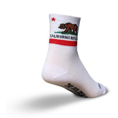 "Classic 3"" Socks - California Flag, Large/XL"