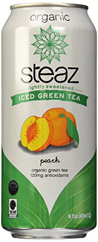 Iced Green Teaz Peach, Organic 16.0 OZ