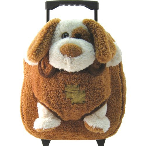 Plush Animal Rollers Puppy w/ Brown