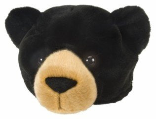 Plush Black Bear Hat