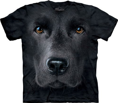 Black Lab Face The Mountain Tee Shirt Adult M-XXXL SIZE: Large
