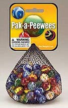 MARBLES PAK-A-PEEWEES (1/2in.) ASSORTED NET - 8 OZ