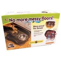 Cat Neater Feeder Deluxe in Decorated Box - Bronze