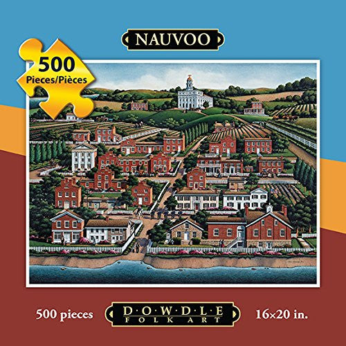 Nauvoo 500 Pieces Box Puzzles, 16x20 inch