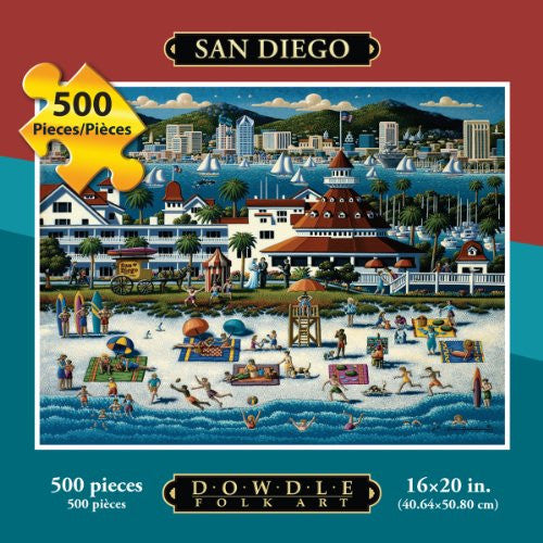San Diego 500 Pieces Box Puzzles, 16x20 inch