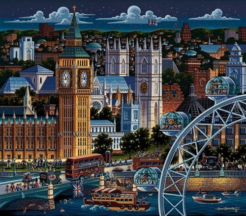 London 500 Pieces Box Puzzles, 16x20 inch