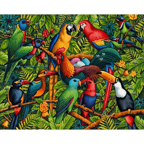 Birds of a Feather 100 Pieces Box Puzzles, 16x20 inch
