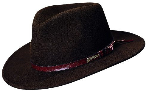 Indiana Jones Men's Outback Fashion Comfort Brim Hat (Brown / XXX-Large / 8 / 25 Inches)