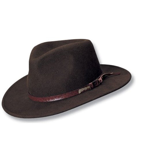 Indiana Jones Men's Outback Fashion Comfort Brim Hat (Brown / XX-Large)
