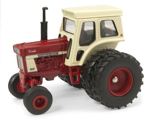Tomy ERTL Case IH Agriculture - International 1466 Farm Tractor (1971-1976, 1/64 scale diecast model car, Red & Beige)