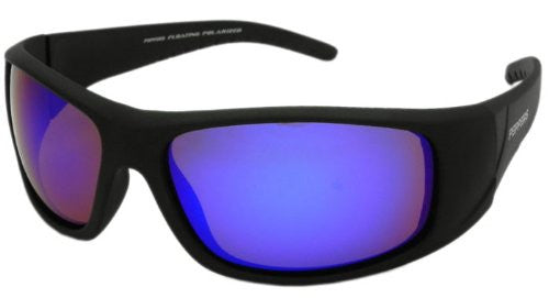 Dry Dock Matte Rubberized Black, Brown TAC-Tical Polarized w. Ice Blue Mirror