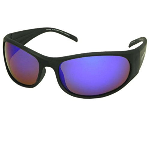 Hovercraft Matte Rubberized Black, Brown TAC-Tical Polarized w. Ice Blue Mirror
