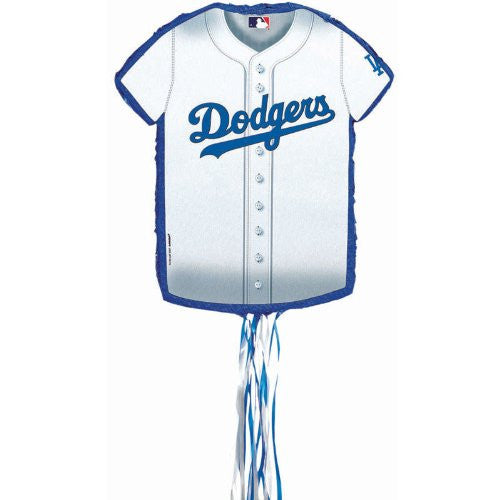 L.A. Dodgers Baseball - Shirt Shaped Pull-String Pinata (Size: One Size Color: As Shown)