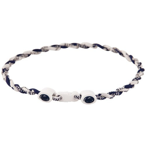 Penn State Nittany Lions Tie Titanium Twist Necklace 18""