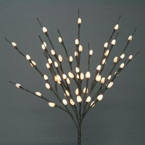 "Natural Pussy Willow 60 Light, 20""- Battery Operated"