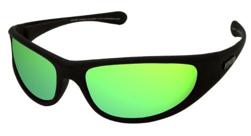 Backlash Rubberized Matte Black, Brown TAC-Tical Polarized w. Emerald Green Mirror