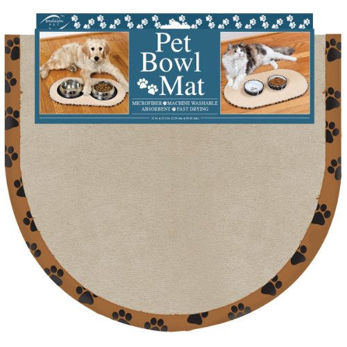 Pet Bowl Mat- Taupe