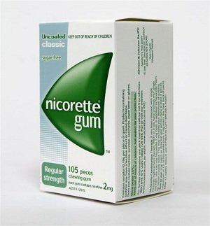 Nicotine Gum 2mg, 105 pcs. - Classic Flavor (Pack of 3)