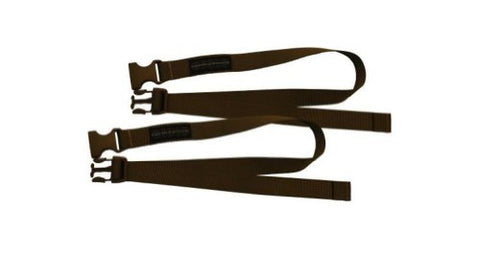 "Accessory Straps, 1"" x 36"" QR, Pair, Dry Earth"