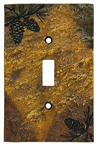 Pinecone Stonecast Single Switch Plate Cover