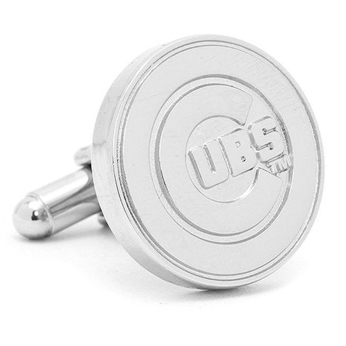 MLB Chicago Cubs Silver Edition Cufflinks