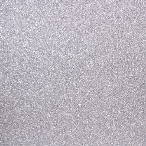 "American Crafts POW Glitter Paper 12""x12"" - Solid/Silver"