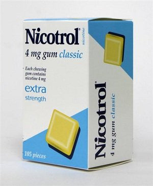Nicotine Gum 4mg, 105 pcs. - Classic Flavor (Pack of 2)