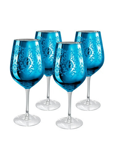 BROCADE GOBLET, 27 OZ., BLUE
