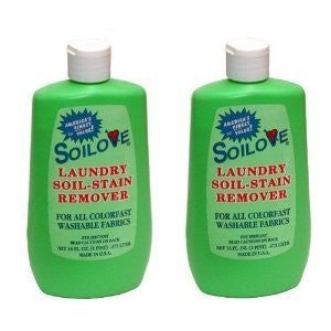 SOILOVE Laundry Soil-Stain Remover 16 oz, Pack of 2