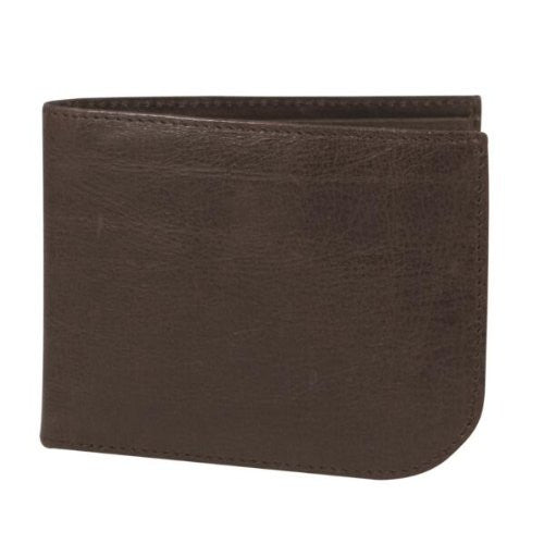 Safe ID Leather Front Pocket Wallet - Chocolate