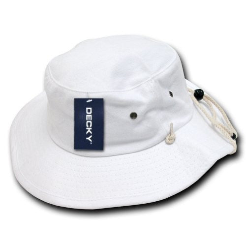 DECKY Aussie Plain Hat (White / Large/X-Large)