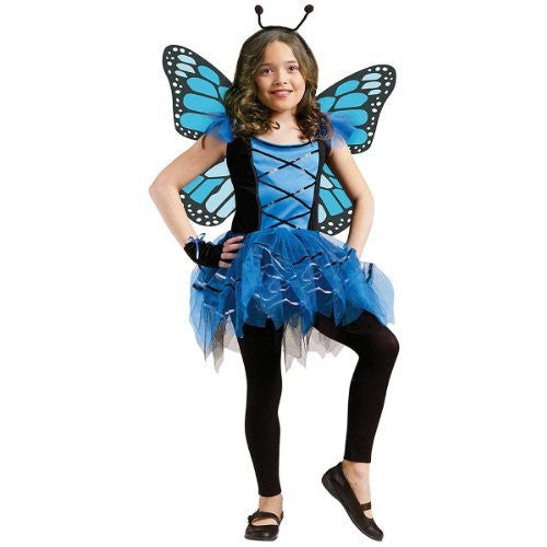 Ballerina Butterfly BLUE CSTM Child Size Small (4-6)