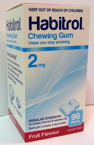 Chewing Gum - Regular 2mg, 96 pcs. (Fruit Flavor) - (Pack of 10)