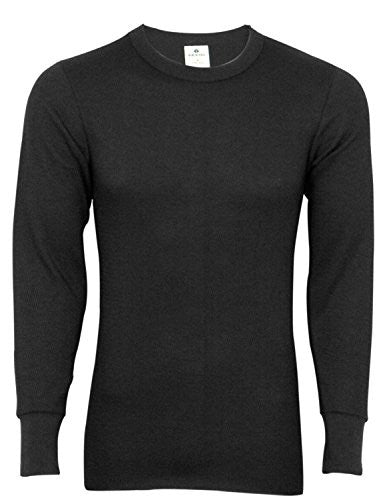 Indera Men's Icetex Cotton Outside/Fleeced Hydropur Inside Top (Black / X-Large)