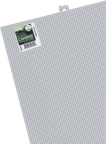 #7 Mesh Plastic Canvas - White - 10.5 x 13.5