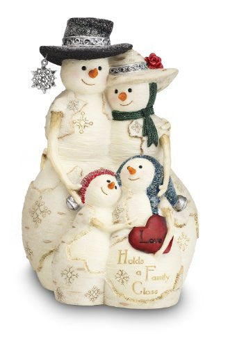 "Love Holds a Family Close 5"" Snowman Family of 4"